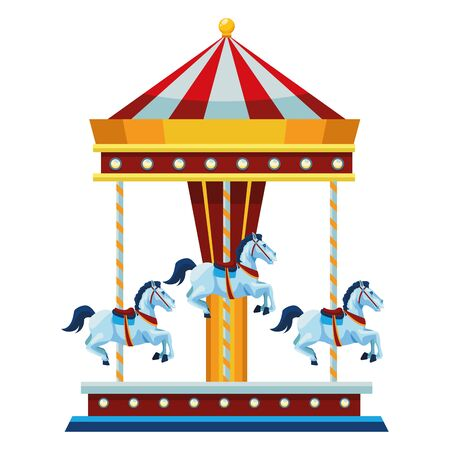 amusement park and carousel symbol isolated vector illustration graphic design