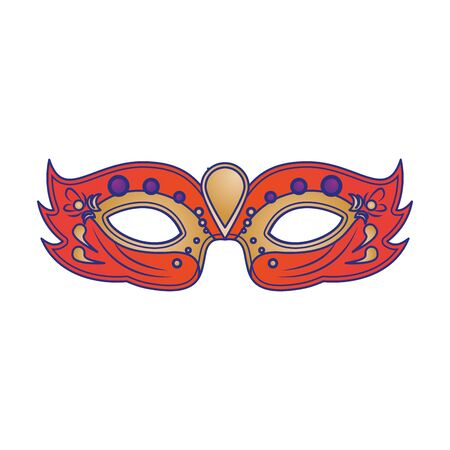 festive carnival party red mask decoration cartoon vector illustration graphic design