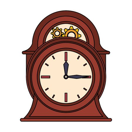 time clock antique classic style watch alarm cartoon vector illustration graphic design Banque d'images - 129578929