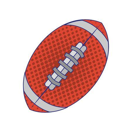 american football sport game ball cartoon vector illustration graphic design Ilustracja