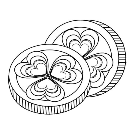 saint patricks day irish tradition golden coins isolated cartoon vector illustration graphic design