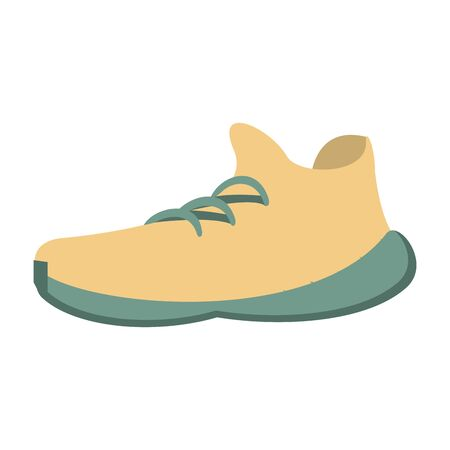 white sneakers for summer holidays Vector design illustration  イラスト・ベクター素材