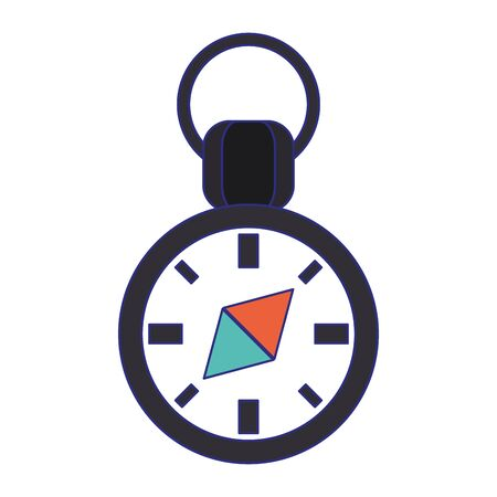 Navigation compass symbol isolated vector illustration graphic design