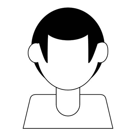 Faceless man avatar profile isolated vector illustration graphic design Stock Illustratie