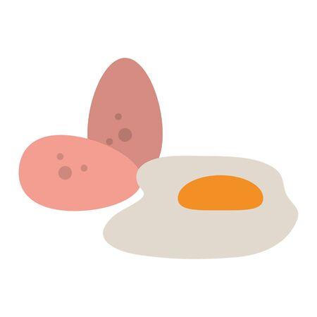 eggs icon cartoon isolated vector illustration graphic design