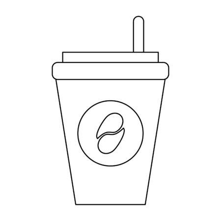 Coffee cup to go symbol vector illustration graphic design