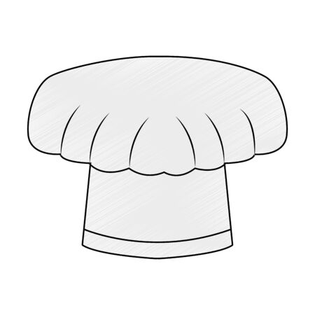 Chef hat isolated vector illustration graphic design  イラスト・ベクター素材