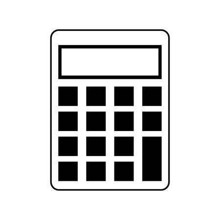 saving money concept calculator cartoon vector illustration graphic design in black and white Stock Illustratie
