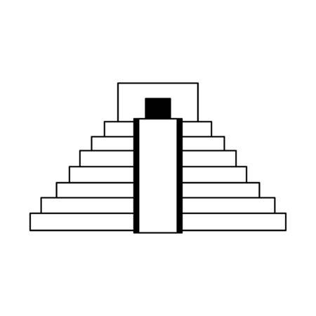 Mexican pyramid building symbol vector illustration graphic design 일러스트