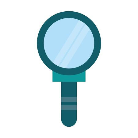 Magnifying glass symbol cartoon isolated vector illustration graphic design