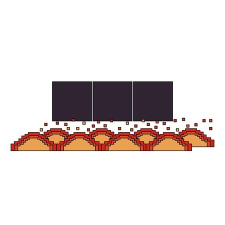videogame pixelated retro art digital entertainment, lava obstacle cartoon vector illustration graphic design