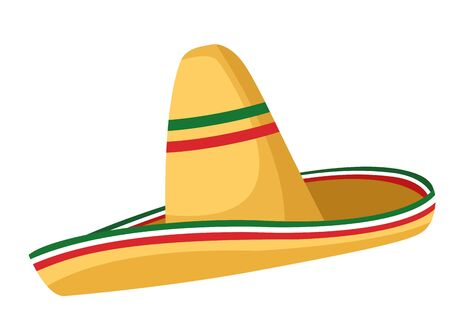 mexican food and tradicional culture with a mexican hat icon cartoon vector illustration graphic design