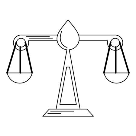 Justice balance symbol isolated vector illustration graphic design Stock Illustratie