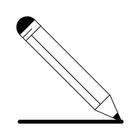 pencil icon cartoon isolated vector illustration graphic design
