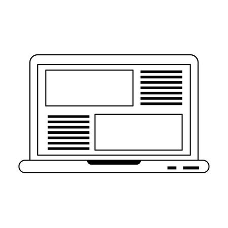 Laptop website browsing with tab open isolated vector illustration graphic design  イラスト・ベクター素材