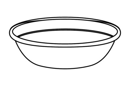 full bowl icon cartoon isolated in black and white vector illustration graphic design