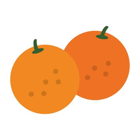 oranges icon cartoon isolated vector illustration graphic design