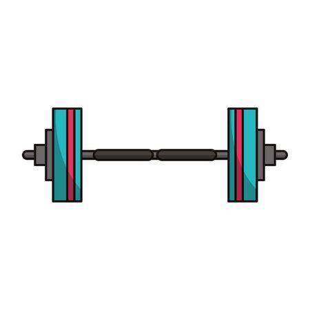 Gym dumbbell weight symbol vector illustration graphic design Иллюстрация