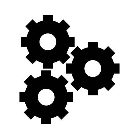 gears icon cartoon isolated vector illustration graphic design