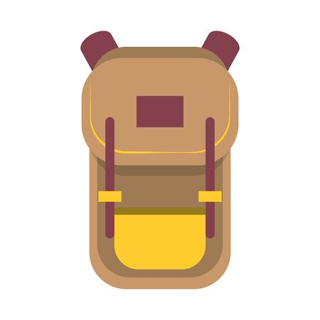 Travel backpack cartoon isolated symbol vector illustration graphic design Çizim