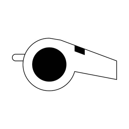 Sport referee whistle isolated cartoon vector illustration graphic design 일러스트