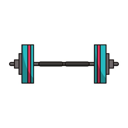 Gym dumbbell weight symbol vector illustration graphic design Moon cloud and raining drop vector illustration graphic design