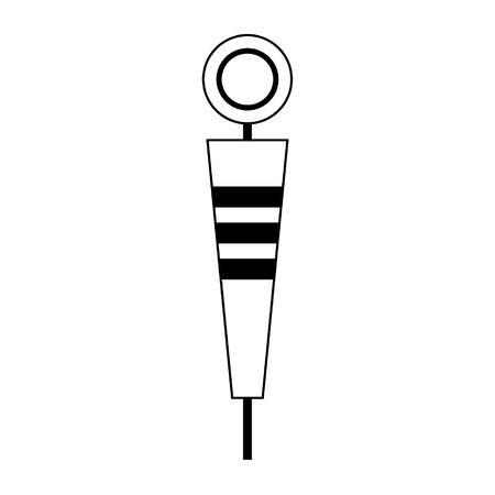 American football pitch marker isolated vector illustration graphic design Archivio Fotografico - 129551853