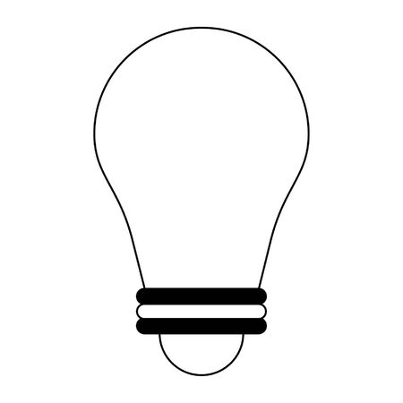 Lightbulb creative idea isolated vector illustration graphic design