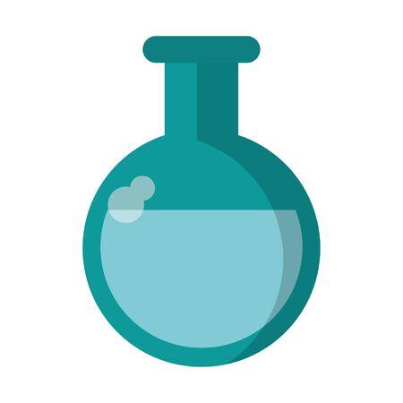 Medical flask cartoon symbol vector illustration graphic design