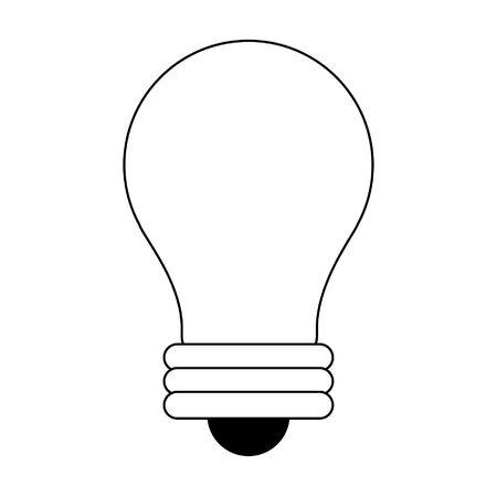 Bulb light symbol isolated vector illustration graphic design Stock Illustratie