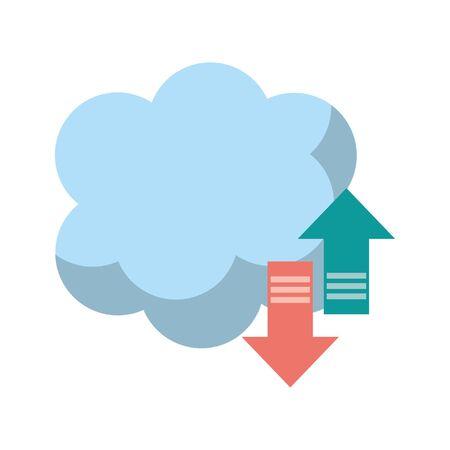 Cloud computing technology symbol vector illustration graphic design
