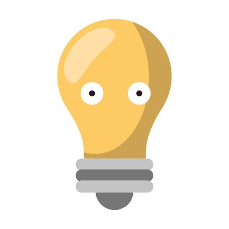 Bulb light smiling cute cartoon vector illustration graphic design