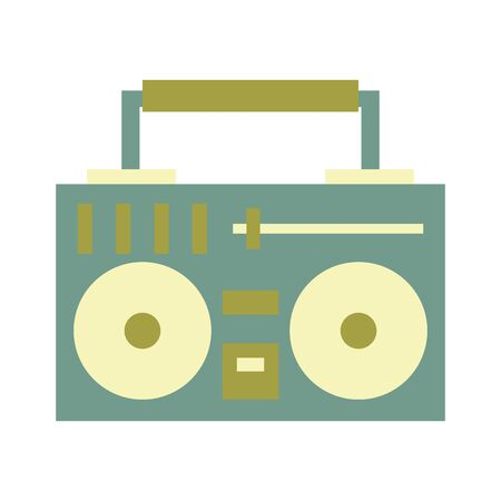 stereo for summer holidays symbol isolated Vector design illustration  イラスト・ベクター素材