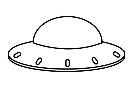 UFO spaceship universe alien cartoon vector illustration graphic design
