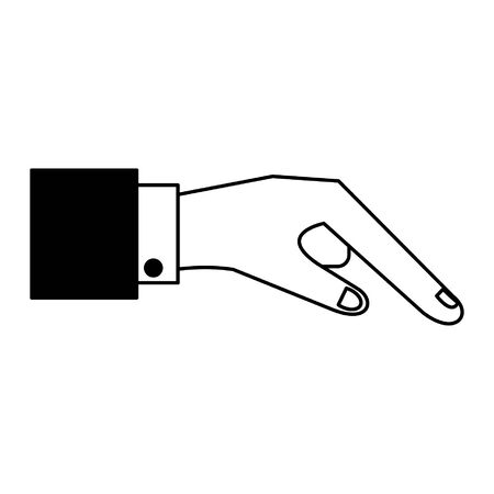 human finger cartoon vector illustration graphic design in black and white
