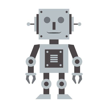 Robot toy technology cartoon vector illustration graphic design