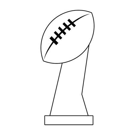 american football sport game champion silver trophy cartoon vector illustration graphic design Archivio Fotografico - 129664960