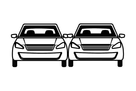 cars transport sedan vehicles cartoon vector illustration graphic design