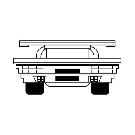 Videogame pixelated racing car frontview symbol vector illustration graphic design