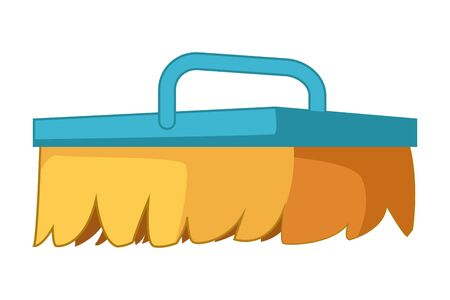 cleaning and hygiene equipment scrub brush icon cartoon vector illustration graphic design Banque d'images - 129664562