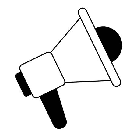 megaphone speaker cartoon vector illustration graphic design in black and white Фото со стока - 129661599