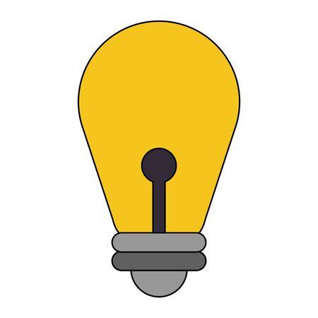 light bulb idea lamp cartoon vector illustration graphic design