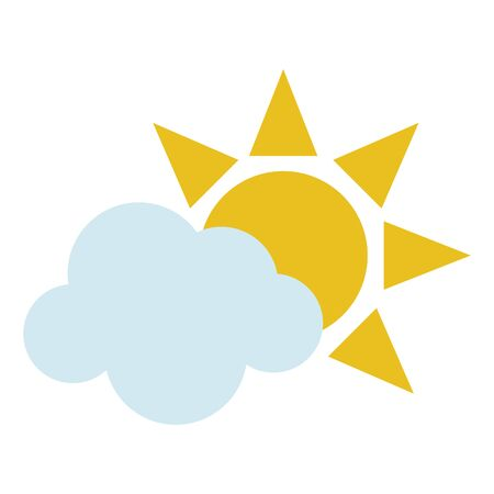 Sun and cloud symbol isolated vector illustration graphic design  イラスト・ベクター素材