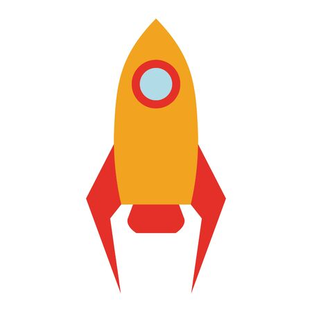 Rocket spaceship symbol isolated vector illustration graphic design Illusztráció