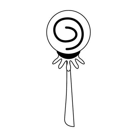 halloween october scary celebration lollipop candy cartoon vector illustration graphic design Çizim