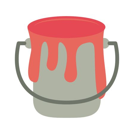 Paint bucket with splash vector illustration graphic design