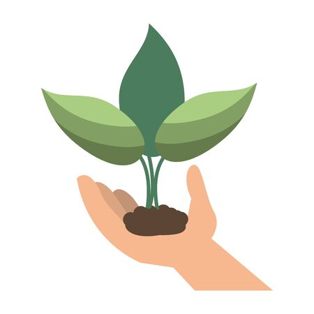 garden plant in hand cartoon vector illustration graphic design