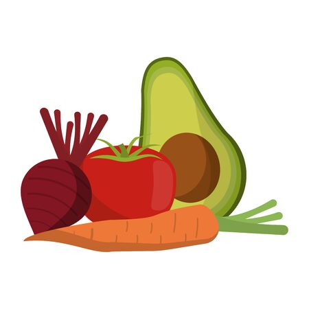 vegetables healthy and fresh food vector illustration graphic design Ilustracja