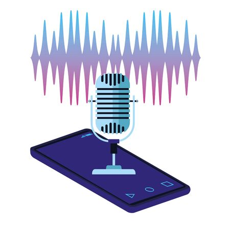 using voice recognition digital technology vector illustration graphic design