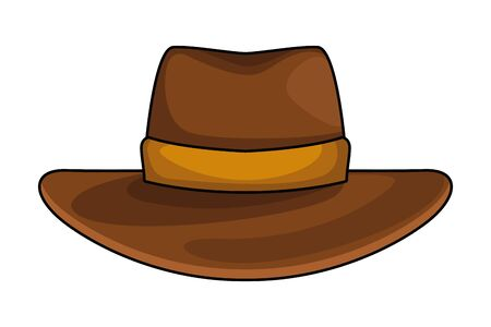 cowboy hat icon cartoon isolated vector illustration graphic design